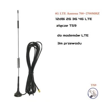 Antena LTE 12dBi TS9  32 cm