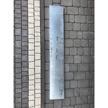 Półka metalowa ocynkowana 128x20