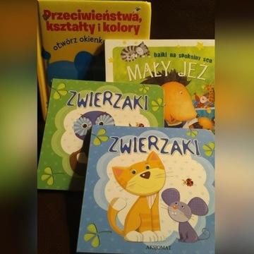 Książeczki dla młodszych dzieci - komplet