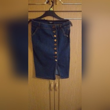 Spódnica jeansowa z guzikami rozm.38