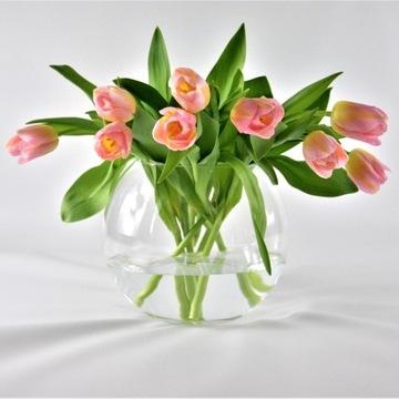 Szklana kula wazon duża do kompozycji H 20 cm