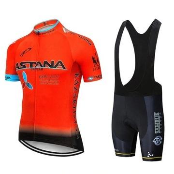 Rowerowa koszulka i spodenki - komplet Astana XL