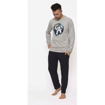 Piżama męska XL cieplejsza bawełna