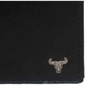 Portfel męski Skóra , czarny poziomy RFID SECURE