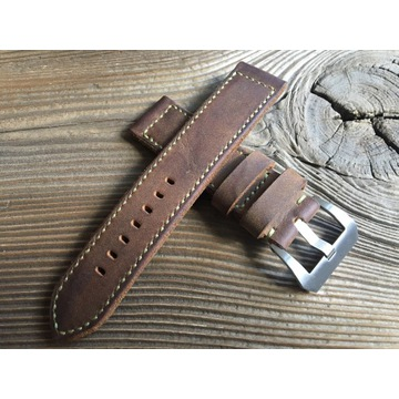 Pasek do zegarka Panerai handmade skórzany 22 mm