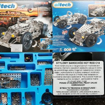 EITECH Samochód HOT Rod klocki metalowe C14
