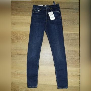 Jeansy Zara 36 rurki wysoki stan nowe