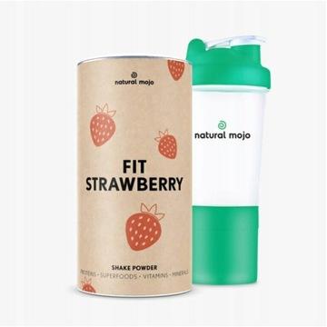 NATURAL MOJO FIT SHAKE-Zestaw Strawberry+ shaker