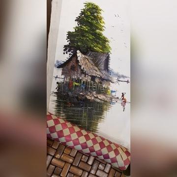 Rękodzieło: obraz artysty z Kambodży