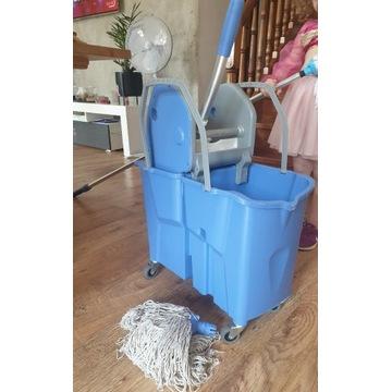 Profesjonalny zestaw do mycia podłogi wiadro + mop