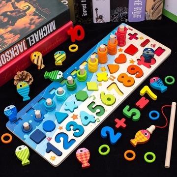 Zabawka edukacyjna matematyczna drewniana mata