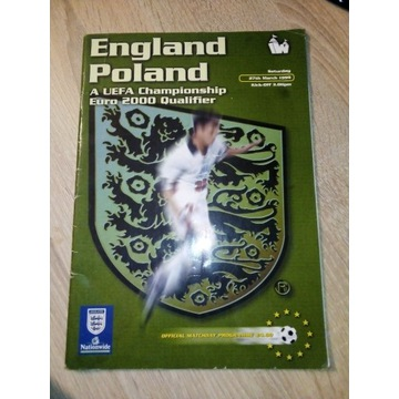 Oryginalny program na mecz Polska-AngliaEuro 2000