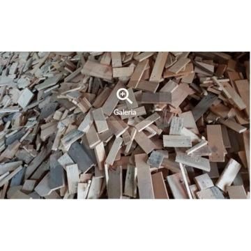 Opał, klepki drewniane, w workach i m3