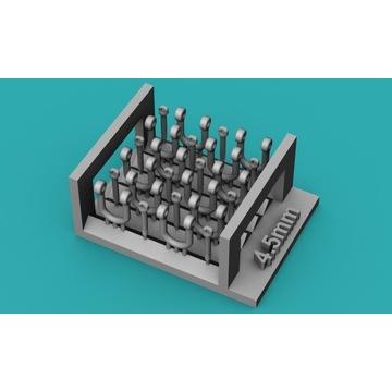 Szekle proste (U) 4,5mm - 10 sztuk - 1:48