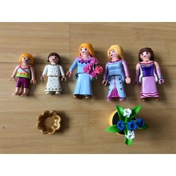 PLAYMOBIL ludziki Księżniczki Królowe dzieci kwiat