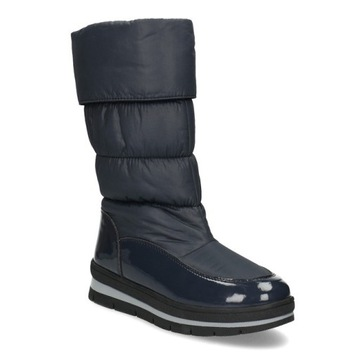 Śniegowce buty zimowe damskie BATA granatowe r.38