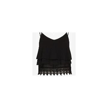 Glamorous czarna koszulka top na ramiączkach rozmi