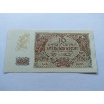 Banknot 10 zł 1940 r. SERIA L 2szt. UNC