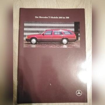 Prospekt Mercedes S124 200-300  08/1991