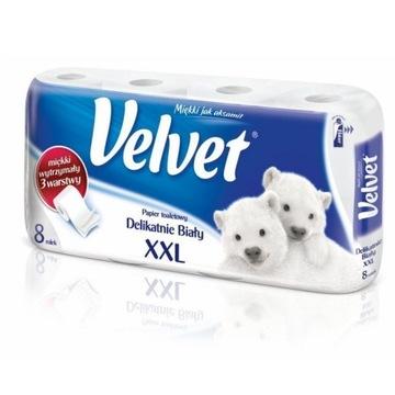 Papier toaletowy VELVET XXL 3 warstwy (8szt.) biał
