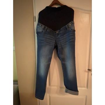 Spodnie ciążowe jeans z elastycznym stanem 44/46