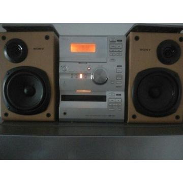 WIEŻA SONY CMT-CP1 AUX, RADIO, CD, KASETY 2X85W