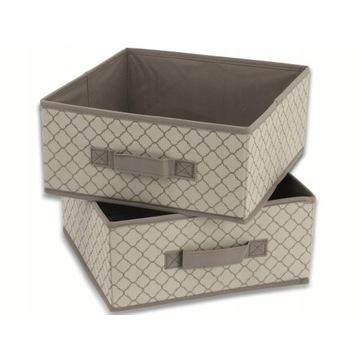 Składane pudełko TUKAN 28x28x13cm, kolor: Szary