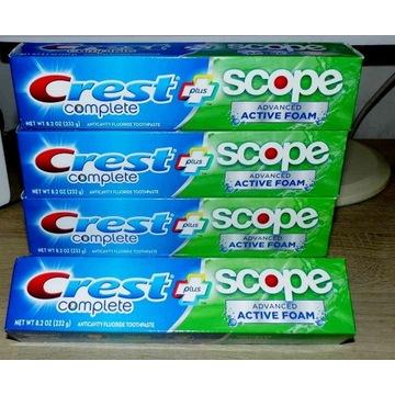Crest Plus Scope Advanced Active Foam 232 g USA!