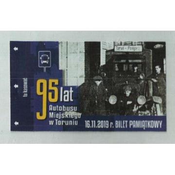 Toruń -pamiątkowy  95 lat autobusu miejskiego 2019