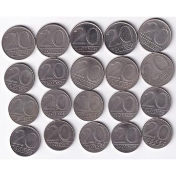 20 zł 1984-1990 - 20 szt