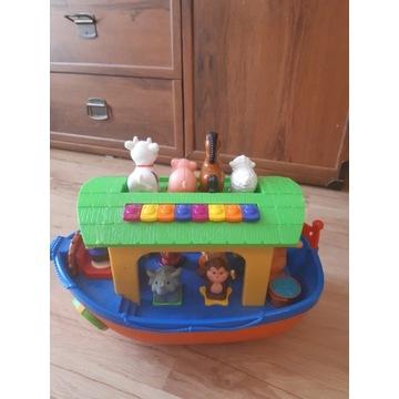 Arka Noego ze zwierzętami, statek piracki, autobus