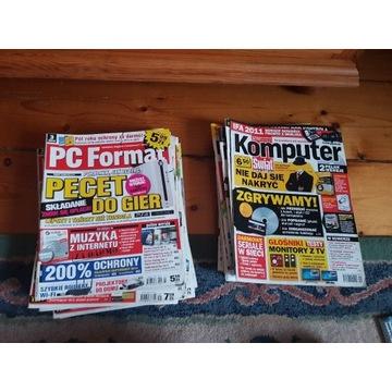 Stare gazety komputerowe Komputer Świat, PC Format