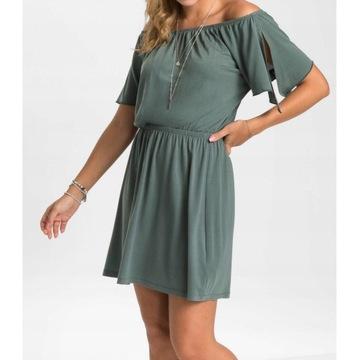 Sukienka carmen ,guma w pasie r.40/42