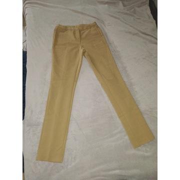 Beżowe spodnie damskie 36