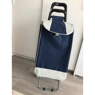 Wózek na kółkach na zakupy torba