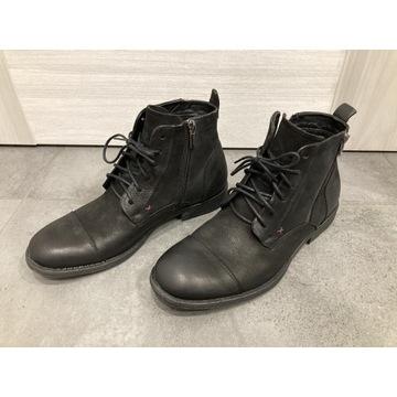 Czarne trzewiki buty Ryłko ipgt73