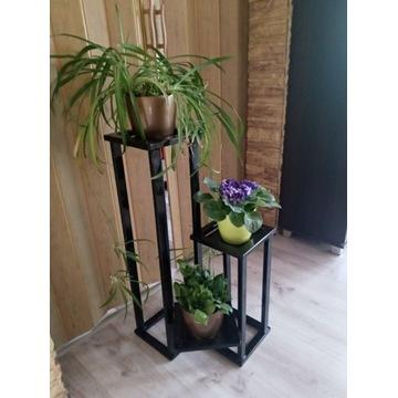 Kwietnik metalowy,stojak na kwiaty,czarny.