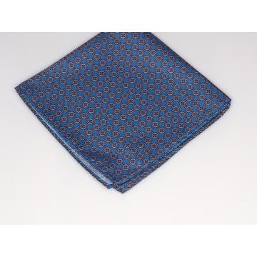 Poszetka Męska Niebieska z wzorem