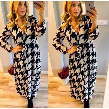 Długa sukienka z szyfonu