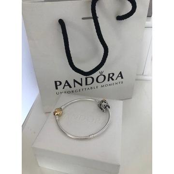 Nowa bransoletka Pandora 19cm charms TOUS serce