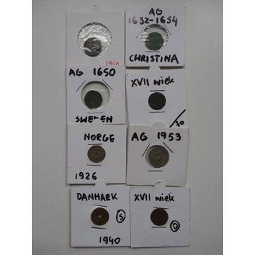 Stare monety w holderach 8 sztuk