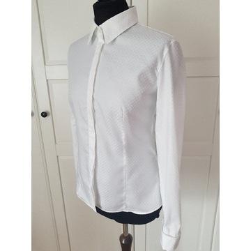 Biała koszula LAMBERT Wólczanka 42 XL na spinki