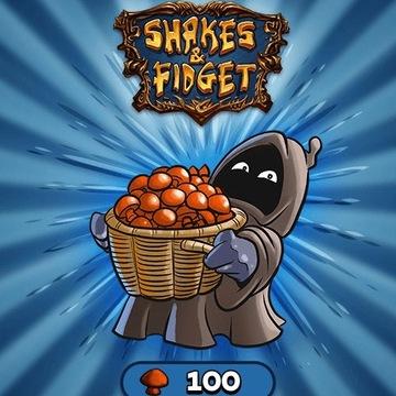 Shakes and Fidget 100 grzybków. Tylko do 10 lvl!!!