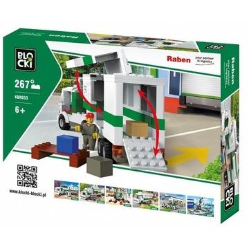 Blocki Klocki RABEN 267 elementów Long Truck
