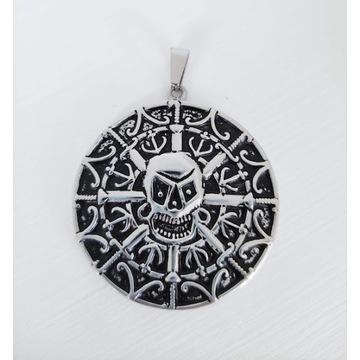 Okrągły wisiorek z czaszką