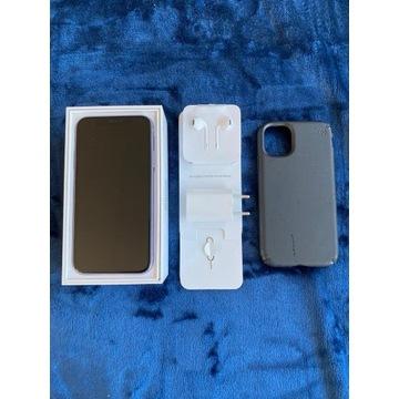 Iphone 11 128GB fioletowy zestaw, obudowa pancerna