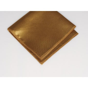 Poszetka Męska złota gładka