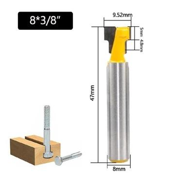 Frez teowy 9,52mm do rowków teowych do drewna