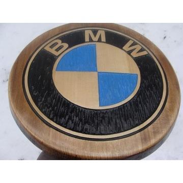 BMW Ręcznie rzeźbione logo w drewnie UNIKAT