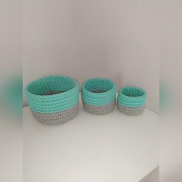 Koszyczki ze sznurka bawełnianego